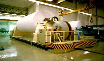 Automated paper roll Handling - handle large Mill rolls on air casters