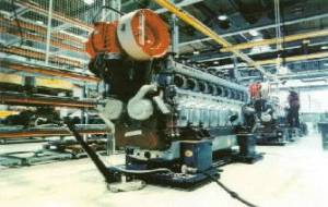 Air Film Transporters are commonly used to move diesel engines through engine assembly manufacturing