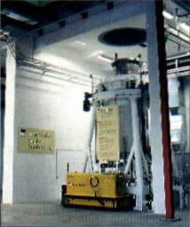 Nuclear waste Handling of capsules by an air film transporter