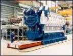 Diesel Engine transporter for production of large diesel engines on air movers