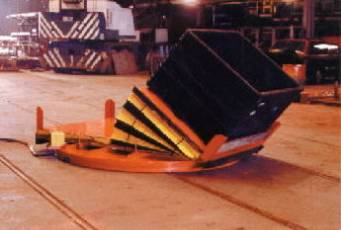 Automotive Industrial Turntable - Industrial Air Bearing Turn Table with Tilt Table top